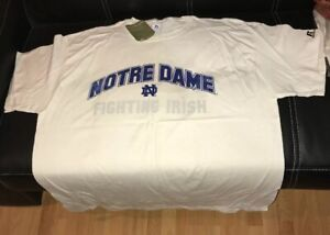 VTG NOTRE DAME FIGHTING IRISH PRACTICE GEAR T SHIRT COCA COLA XL NWT RUSSELL