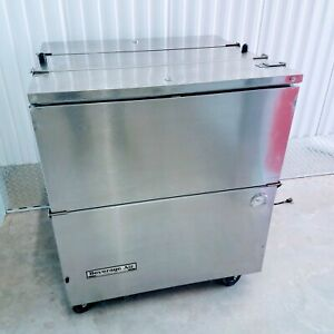 Beverage air St34n s 34 Stainless Steel 2sided Cold Wall Milk Beer Soda Cooler
