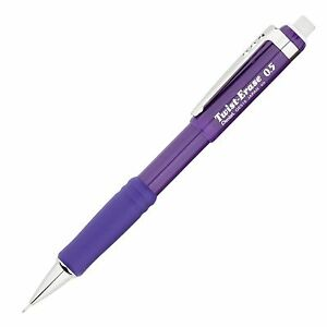 Qe515v Pentel Twist erase Iii Mechanical Pencil 0 5mm Violet Barrel Pack Of 12