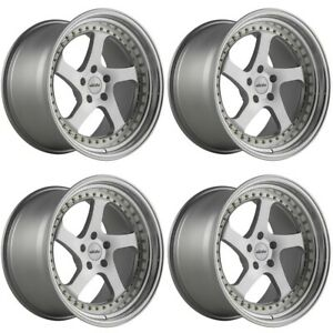 Set Of 4 Whistler Wheels Sk5 18x10 5 5x114 3 15 Silver Machined