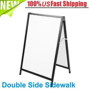 Double Side Sidewalk A Frame Sign Message Board Holder Durable Poster Stand