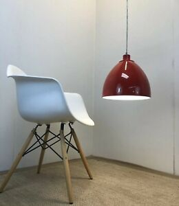 Vintage Contemporary Danish Modern Red Panton Era Swag Lamp Fixture