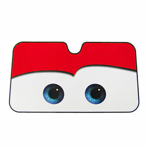 Eyes Cute Cars Front Windshield Sun Shade Red