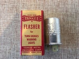 Vintage Yankee Flasher Signal Warning Lights Tung Sol 210327g Nos Box