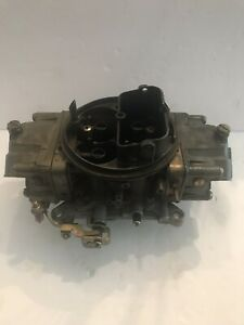 Used Hp Holley 4777 2 650cfm Double Pumper Hi perf 327 350 351 396 427 Ss Gt
