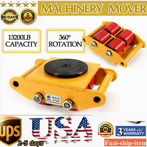 Industrial Machinery Mover With 360 rotation Cap 13200lb 6t 4 Roller Dolly Skate