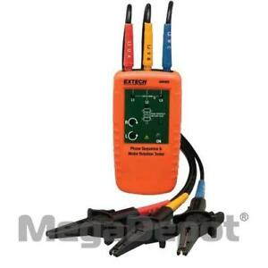 Extech 480403 Motor Rotation And 3 phase Tester