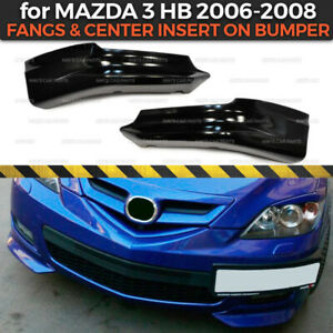 Fangs On Front Bumper For Mazda 3 Hb 2006 2008 Axela 2 Pcs Body Kit Abs Plastic
