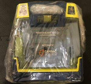 Brand New In Box Cardiac Science Powerheart G3 Automatic Aed With Metal Cabinet