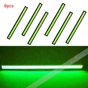 6x Cob Green Led Car Fog Drl Daytime Running Light Bar Strip 12v Waterproof Us