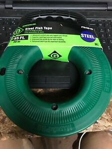 Greenlee Fish Tape 1 8 In X 65 Ft steel Fts438 65