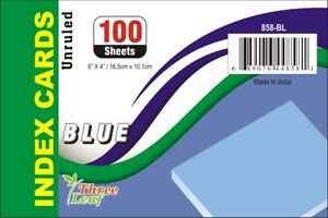 4 X 6 Blue Unruled Index Cards 100 Count Case Of 40