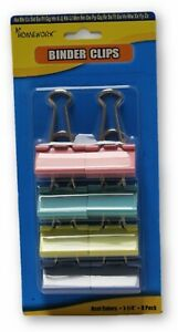 8 pack Colored Binder Clips Case Of 48