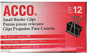 Acco Binder Clips 3 4 In Case Of 18