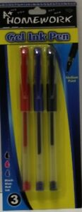 Gel Pens 3 Pack Assorted Colors Case Of 48