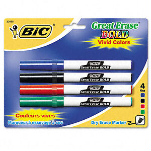 Great Erase Bold Pocket Style Dry Erase Markers Case Of 6