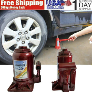 20 Ton Hydraulic Bottle Jack Low Profile Automotive Axle Lift Practical Tool
