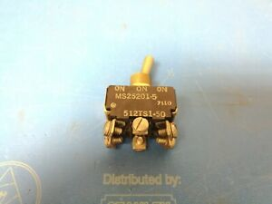 Micro Switch Toggle 512ts1 50 On off on Dpdt 10amp 125vac Ms25201 5