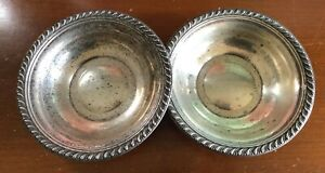 2 Antique Sterling Silver Candy Dish 6 Bowls 144 Grams Manchester