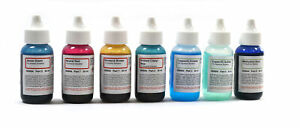 Microscope Stains Vital Stain Kit 7 Bottle Set 6 Different Stains For Slides