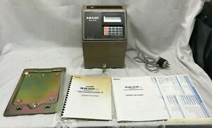 Tested Amano Mjr 8000 Computerized Calculating Time Clock Mjr 8000 W Key Manuals