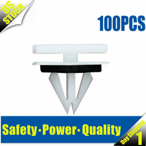 100x New Rocker Panel Moulding Clips Nylon 11518357 For Cadillac Chevrolet Chevy
