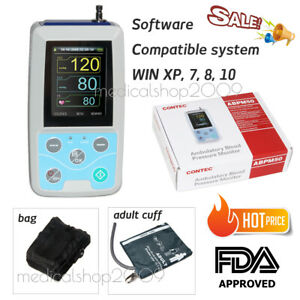 Fda Ambulatory Blood Pressure Monitor Nibp Holter Abpm50 Usb Software 24 Hours