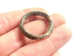 Exquisite Large Ancient Celtic Silver Suspension Ring Proto Money 300 Bc
