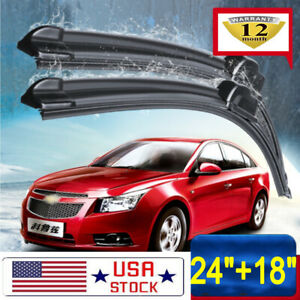 One Pair Windshield Wiper Blades Bracketless 24 18 Inch J Hook Oem Quality
