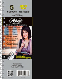 5 Subject Poly Notebook College Ruled Case Of 12