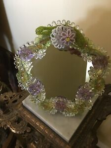 Lovely Vintage Tracy Porter Floral Standing Boudoir Mirror