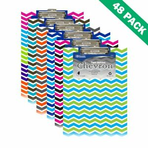 Low Profile Clipboard Pack Of 48 Bazic Memo Clipboards With Chevron Design