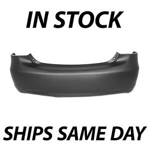 New Primered Rear Bumper Cover Replacement For 2007 2012 Toyota Yaris Sedan 4dr