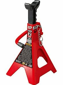 Torin Big Red Steel Jack Stands Double Locking 2 Ton Capacity 1 Pair