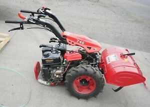 Two Wheel Walk Behind Tractor W Tiller Sickle Mower Snow Blower Sweeper