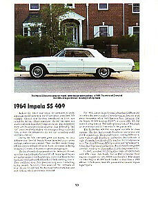 1964 Chevy Impala Ss 409 Article Must See