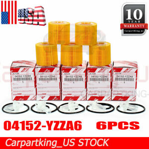 04152 Yzza6 For Toyota Genuine Oem Oil Filter Set Of 5 For Corolla Prius Priusv