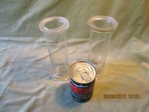 Pair Of Gas Jars With Ground Glass Flanges Vintage Chemistry