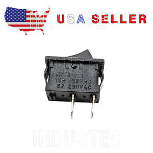 100 Kcd1 101 Small Rocker Switch On off 6a 250 V 1 2 X 3 4 Usa Seller Mini