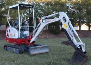 Takeuchi Tb 216 Mini Excavator Low Hours One Owner Grapple Arm no Tax