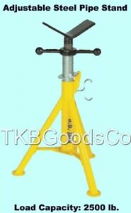 Adjustable Pipe Stand 2500 Lb Cap Jack Support Plumbing Piping Tool V head New