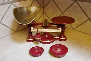 Rare Antique No 4 John Chatillon Sons Candy Scale Restored Scales Vintage