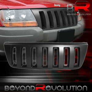For 1999 04 Jeep Grand Cherokee Front Bumper Black H2 Type Grill Vertical Grille