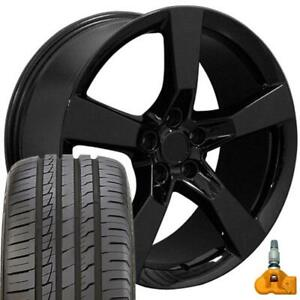 20x9 Rims Tires Tpms Fit Chevy Camaro Ss Style Black Wheels Ironman