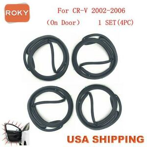 For Cr V 2002 2006 Door Weatherstrip Ping Crv 4pc On Door Opening Seal Stripping