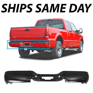 New Primered Steel Rear Step Bumper Face Bar For 1999 2007 Ford Super Duty Truck