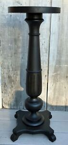 Antique Victorian Mahogany 35 H Baluster Form Pedestal Plant Stand C 1880
