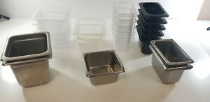 Mix Lot Commercial Grade Food Pans containers 1 6 1 9 Gn qty 24