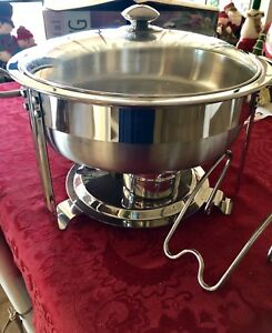 Chafing Dish Commercial Seville Classics 4 Quart Model 14009 used In Box Epoc