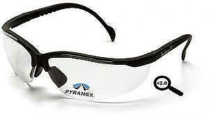 Pyramex Sb1810r20 Venture Ii Safety Glasses Clear 2 0 Reading Lens 6 Pair